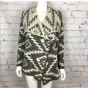 Open front tribal sweater